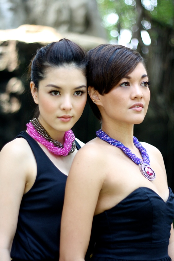 crystal necklaces, models, girls, pretty, fashion, lydia thai singer , bangkok photograper